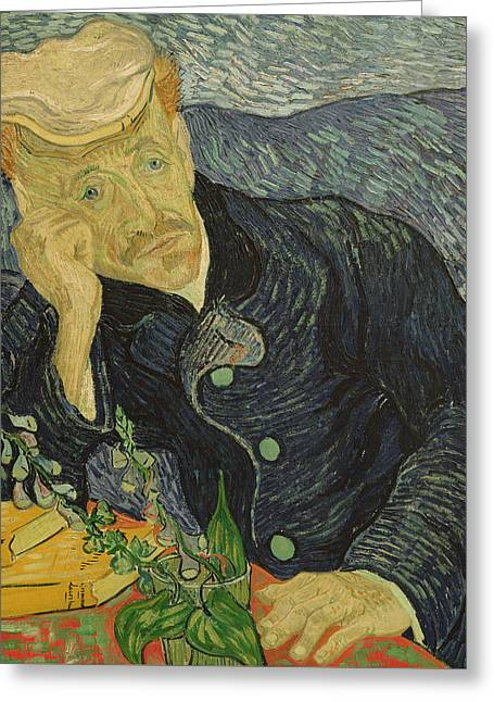 Portrait Of Dr Gachet Greeting Card by Vincent van Gogh