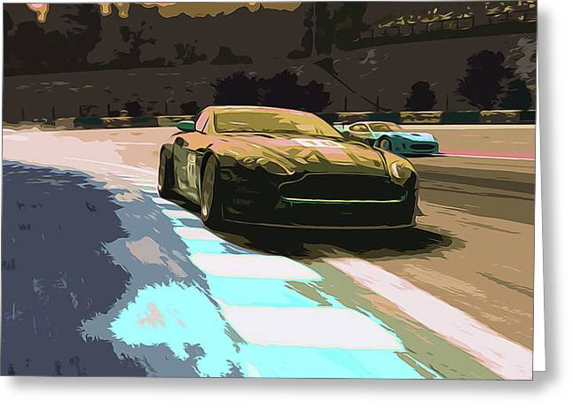 Power And Motors Greeting Card by Andrea Mazzocchetti