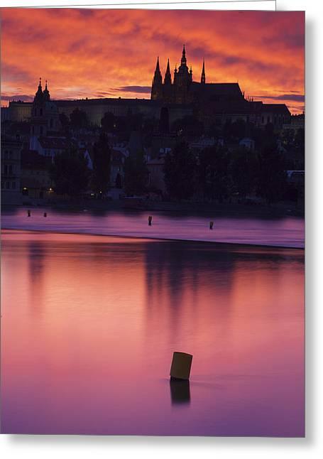 Prague Castle Greeting Card by Andre Goncalves