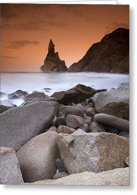 Praia Da Ursa Greeting Card by Andre Goncalves