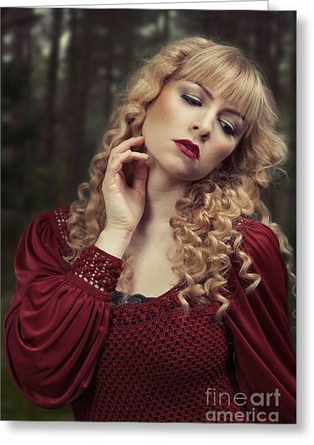 Pre-raphaelite Beauty Greeting Card
