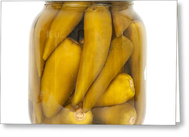 Preserved Peppers Greeting Card by Boyan Dimitrov