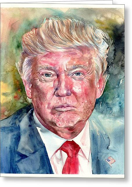 President Donald Trump Portrait Greeting Card