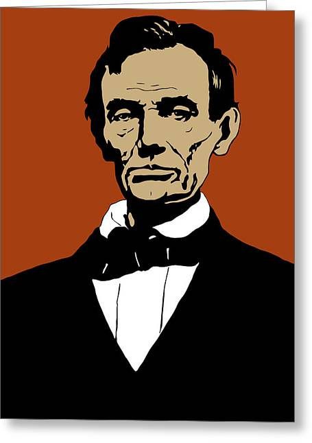 Emancipation Proclamation Greeting Cards - President Lincoln Greeting Card by War Is Hell Store