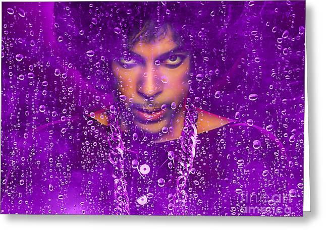Prince Purple Rain Tribute Greeting Card