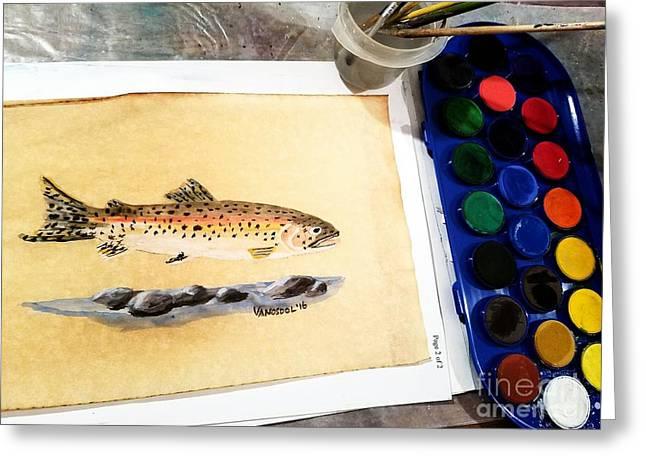 Rainbow Trout Greeting Card by Scott D Van Osdol