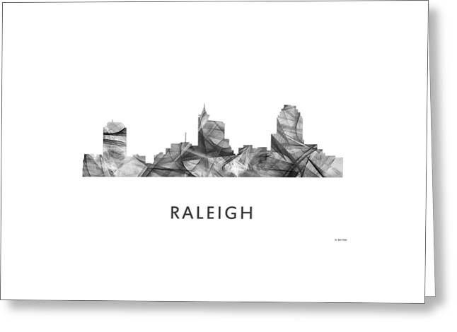Raleigh North Carolina Skyline Greeting Card