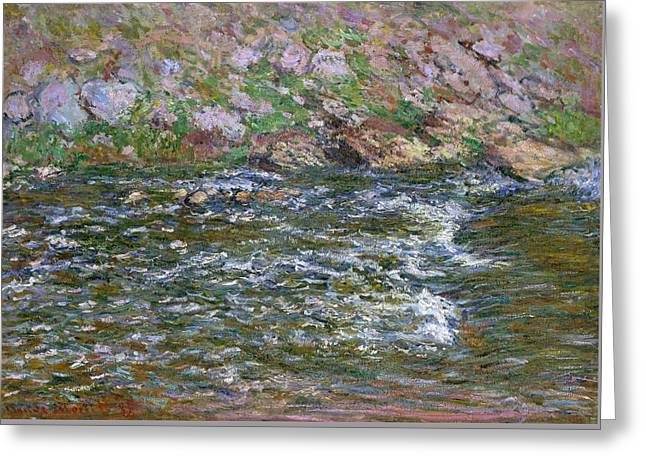 Rapids On The Petite Creuse At Fresselines Greeting Card