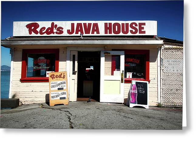 Red's Java House - San Francisco Greeting Card