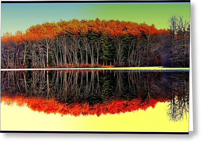 Reflections At Farrington Lake Greeting Card
