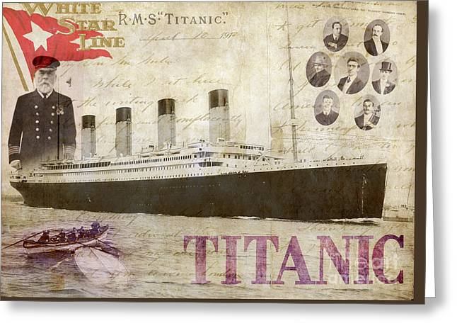 Rms Titanic Greeting Card by Jon Neidert