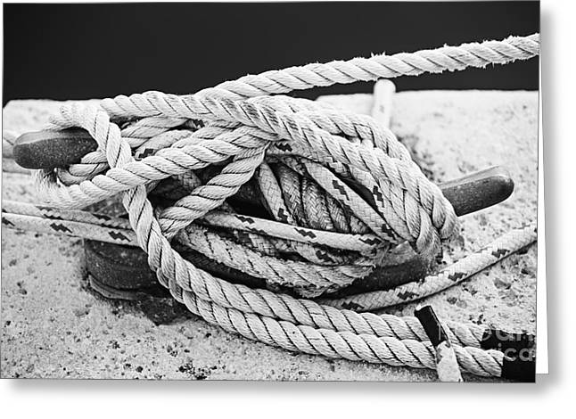 Ropes On Cleat Greeting Card