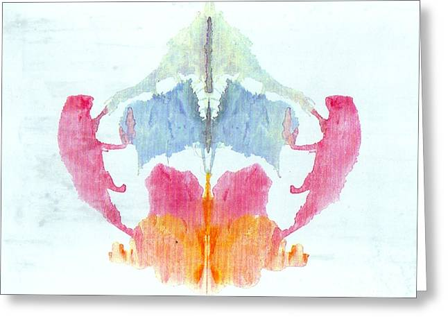 Rorschach Test Card No. 8 Greeting Card by Science Source
