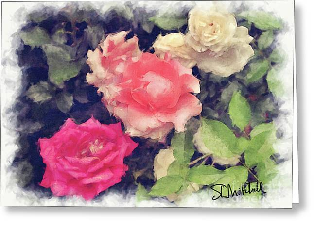 3 Roses Greeting Card by Stephen Mitchell