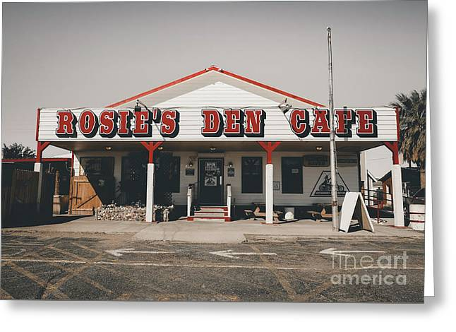 Rosies Den Cafe   Greeting Card