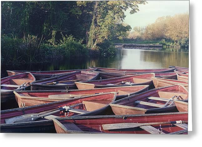 Rowing Boats Greeting Card by Joana Kruse