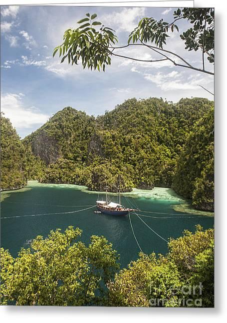 Rugged Limestone Islands Frame An Greeting Card by Ethan Daniels