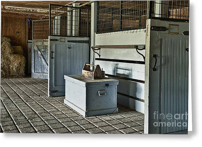 Rustic Stable Greeting Card by John Greim