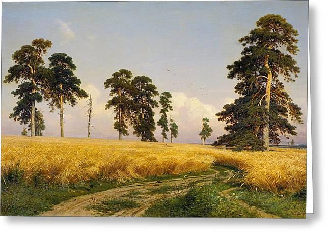 Rye Greeting Card by Ivan Shishkin