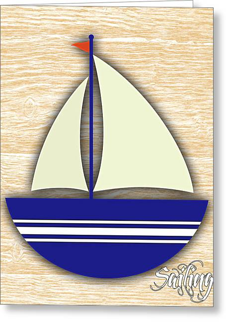 Sailing Collection Greeting Card by Marvin Blaine