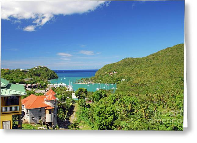 Greeting Card featuring the photograph Saint Lucia by Gary Wonning