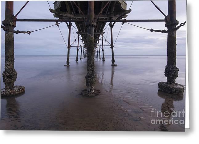 Saltburn Pier Greeting Card by Nichola Denny