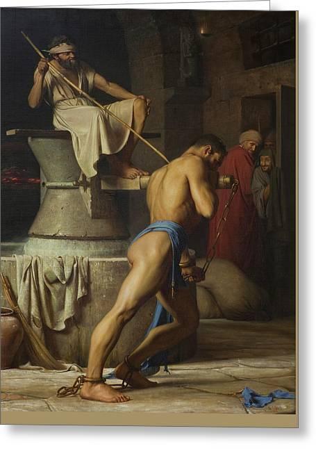 Samson And The Philistines Greeting Card