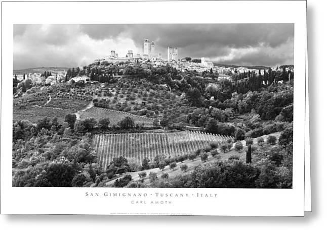 San Gimignano Tuscany Italy Greeting Card by Carl Amoth