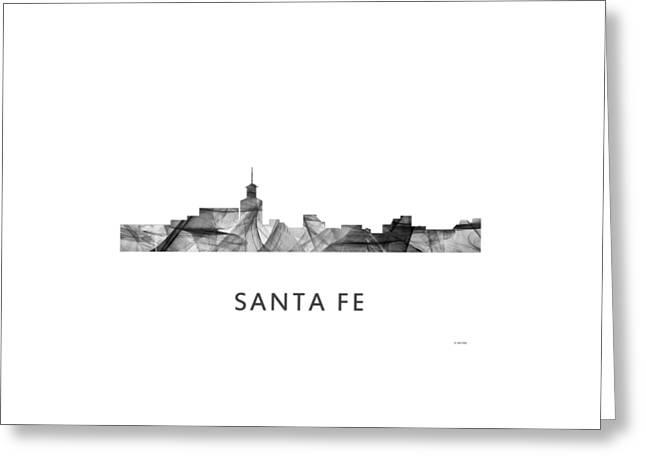 Santa Fe New Mexico Skyline Greeting Card