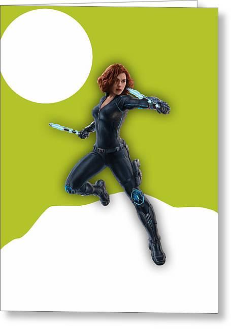 Scarlett Johansson Black Widow Greeting Card