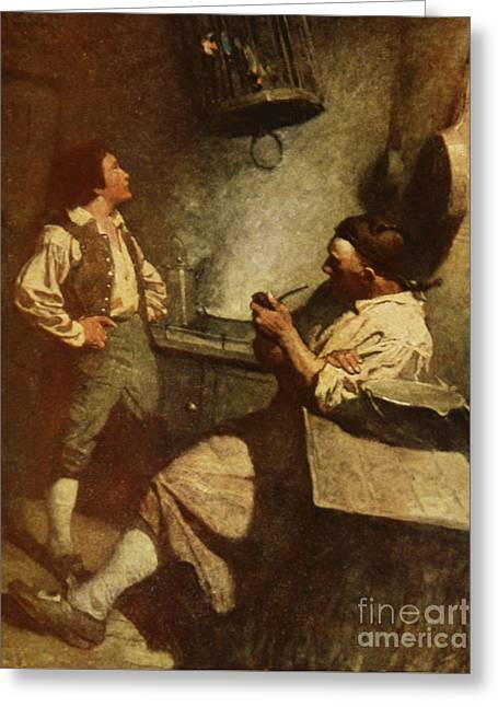 Scene From Treasure Island Greeting Card by Newell Convers Wyeth