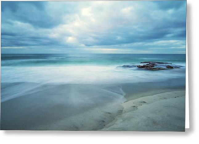 Sea And Sky Greeting Card by Joseph S Giacalone
