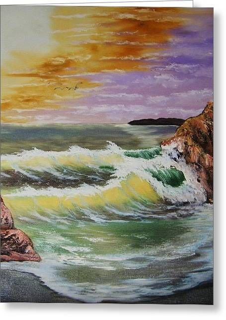 Seascape Greeting Card by Larry Doyle
