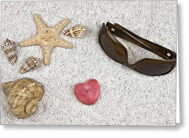 Seastar And Shells Greeting Card by Joana Kruse