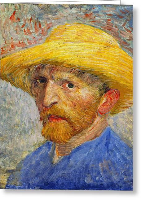 Self Portrait 1887 Greeting Card by Vincent Van Gogh
