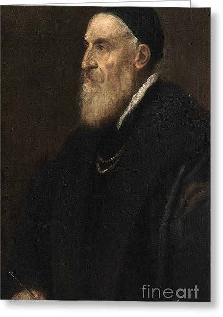 Self Portrait Greeting Card by Titian