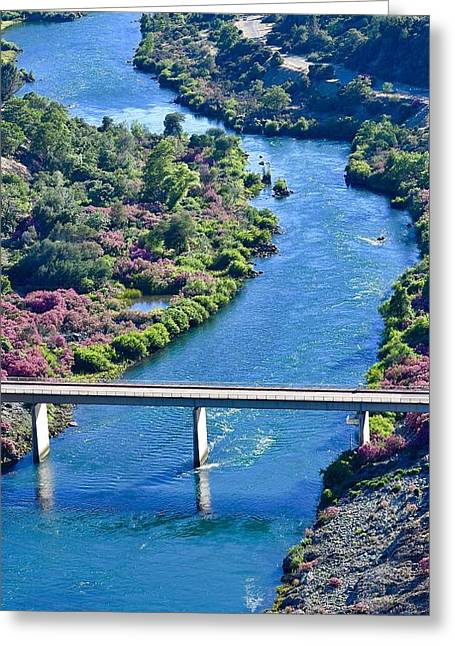 Shasta Dam Spillway Greeting Card
