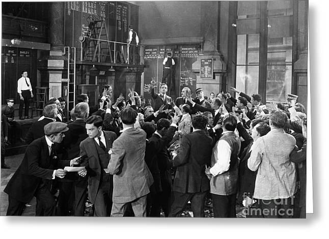 Silent Film Still: Crowds Greeting Card by Granger