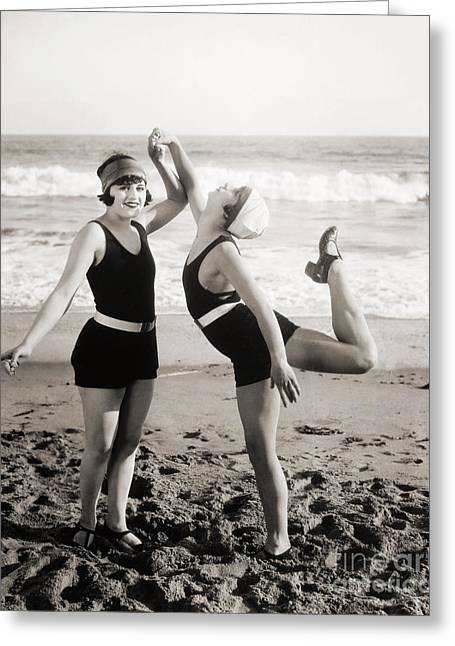 Silent Still: Bathers Greeting Card by Granger