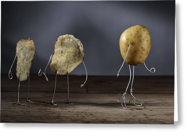 Simple Things - Potatoes Greeting Card by Nailia Schwarz