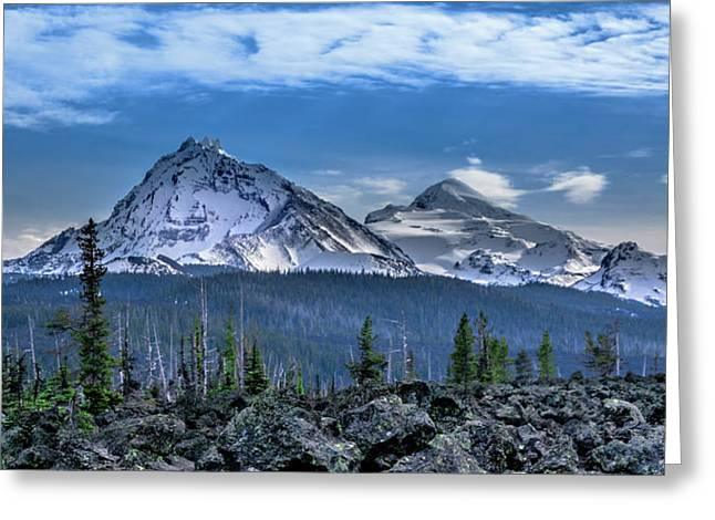 3 Sisters Of Oregon Cascades Greeting Card