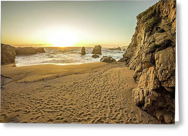 Soberanes And Cliffs On Pacific Ocean Coast California Greeting Card by Alex Grichenko