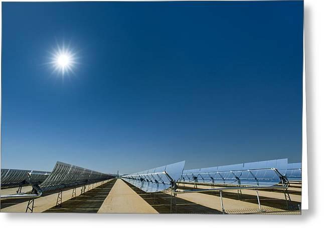 Solar Power Plant, California, Usa Greeting Card by David Nunuk