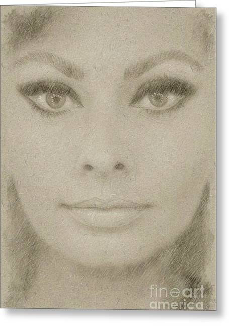 Sophia Loren Hollywood Actress Greeting Card