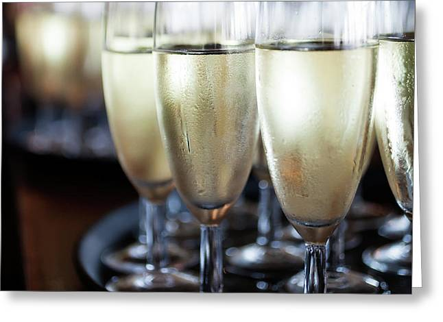 Sparkling Wine Greeting Card by Kati Molin