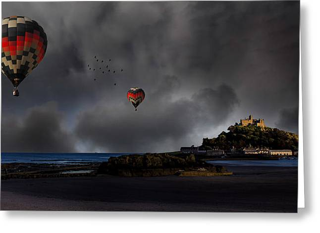 St Michael's Mount Greeting Card by Martin Newman
