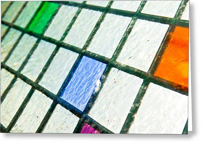 Stained Glass Greeting Card by Tom Gowanlock