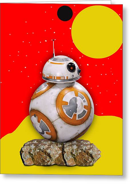 Star Wars Bb8 Collection Greeting Card