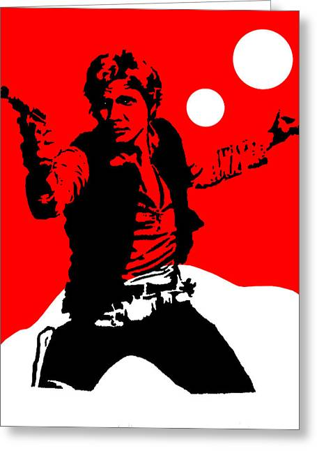 Star Wars Han Solo Collection Greeting Card by Marvin Blaine