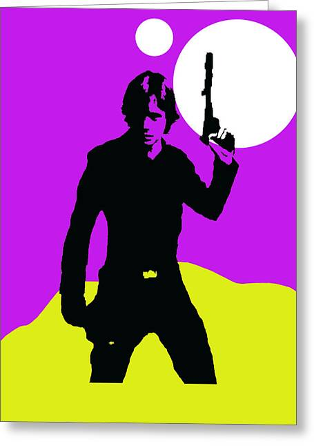 Star Wars Luke Skywalker Collection Greeting Card by Marvin Blaine